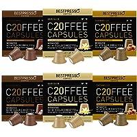 Bestpresso Coffee for Nespresso Original Machine 120 pods Certified Genuine Espresso Variety Pack Caramel,Vanilla and…