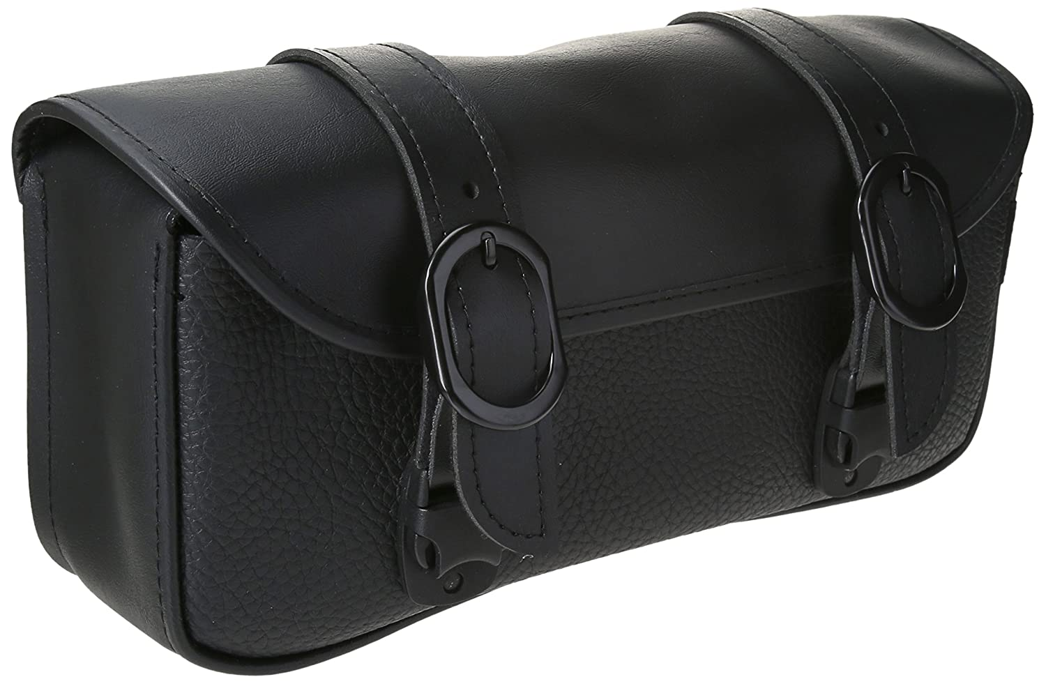Dowco Willie /& Max 58282-20 Black Magic Series: Synthetic Leather Motorcycle Tool Pouch Universal Fit 2.5 Liter Capacity Black