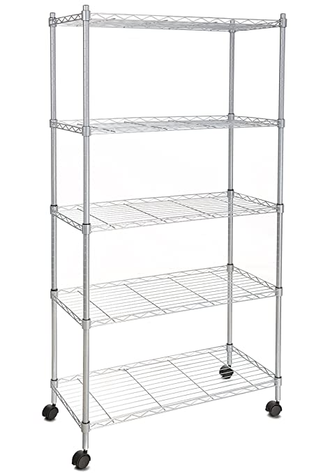 Amazon.com: Homdox Wire Shelving 5-Shelf Metal Shelf Unit with ...