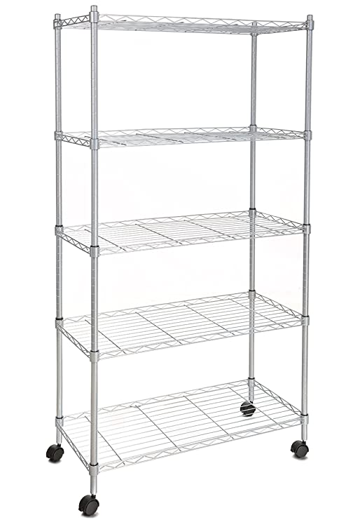 Scaffali Iron System.Homdox 5 Shelf Shelving Unit On Wheels Wire Shelves Commercial Shelving Shelving Unit Or Garage Shelving Kitchen Storage Racks