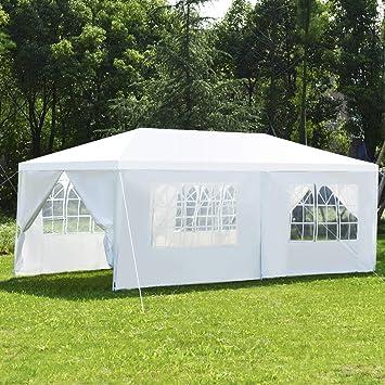 COSTWAY Tente de Jardin Tonnelle Tente de Réception en Tube ...