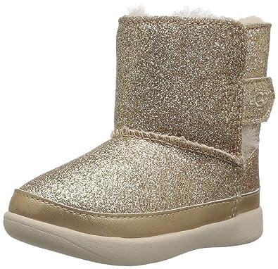 UGG Girls' T Keelan Glitter Fashion Boot, Gold, 10 M US Toddler