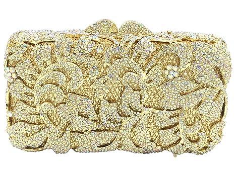 Cartera Bolso Mujer Noche Bolsas Fiesta Boda Brillo Mano Diamantes Cadena Embrague Dorado