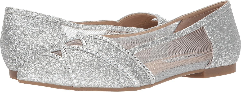 Nina Womens Kiyrah B07692HZMB 10 B(M) US|Silver/True Silver Micro Glitter/Reflective Suedette/Mesh
