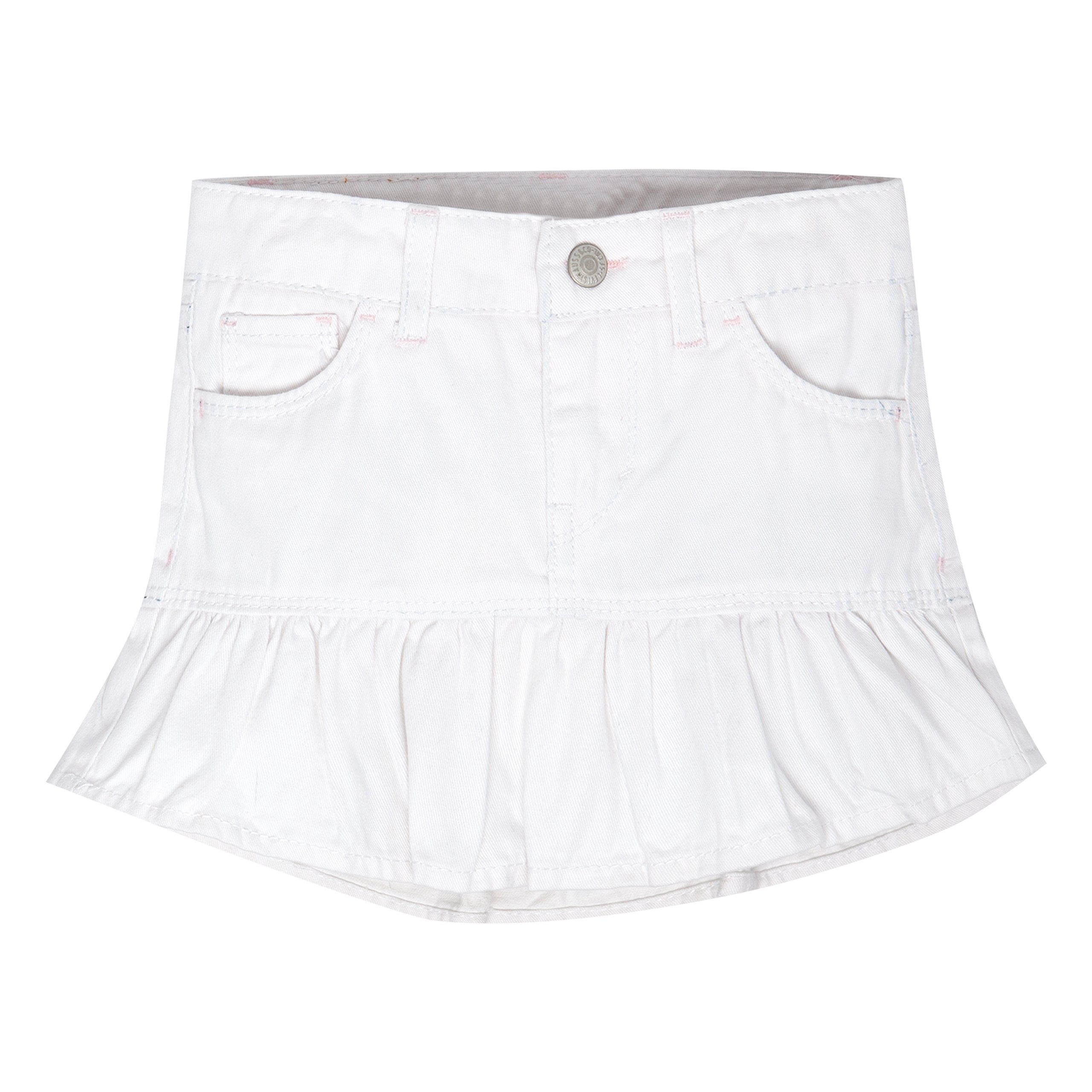 Levi's Girls' Alessandra Scooter Skirt,White, 2T by Levi's