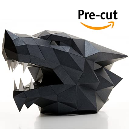 Wolf Head 3d Animal Puzzle Low Poly Craft Kit For Adults Kids