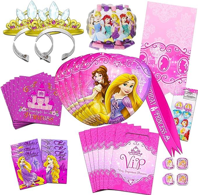 Happy Birthday Princess Small Napkins Paper Birthday Party Supplies 25 Ct