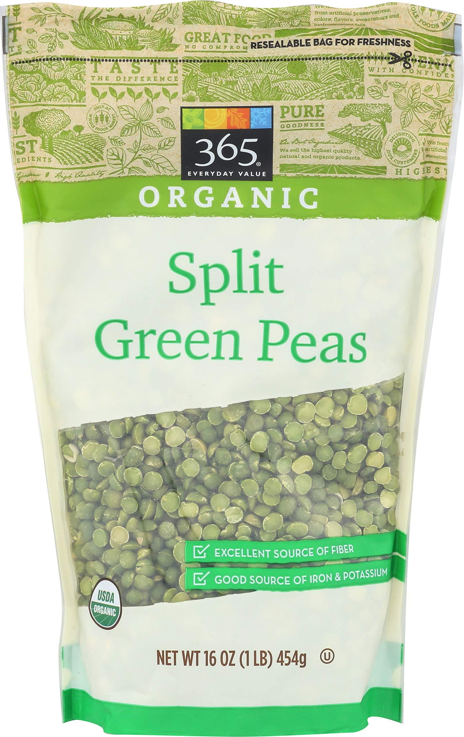 365 Everyday Value, Organic Split Green Peas, 16 Ounce