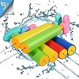 Biulotter 6 Pack Foam Water Blaster Set Pool Toys Water Guns for Kids Water Gun Blaster Shooter Swimming Pool Outdoor Beach P