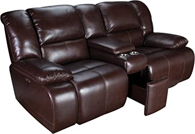Amarillo Power Reclining Leather Loveseat