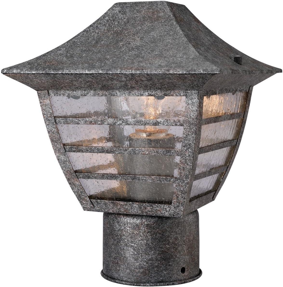 Hardware House H10-3947 Dakota Outdoor Fixture Post Light, Antique Silver