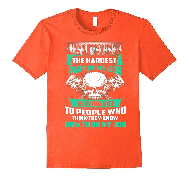 b850f7cb Nice Funny Diesel Mechanic Tee Shirt With Skull Graphic Gift-FL -  Sunflowershirt