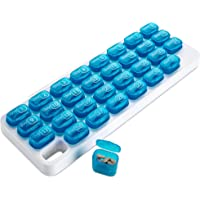 MEDca Monthly Pill Organizer - 31 Day Pill Organizer with Large Removable Medication Pods, Portable Pill Case Box and…