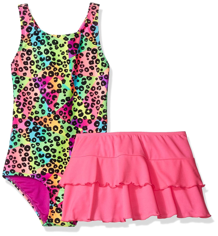 Freestyle Girls' Big Wild Prismatic Skirt Swim Set 944