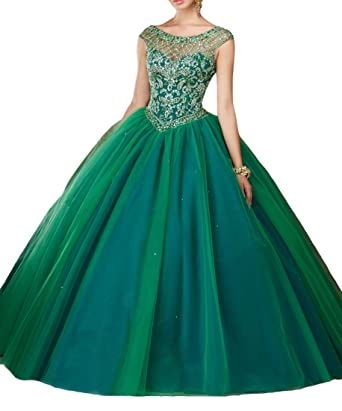 FairyBridal Womens Ball Gown Prom Dresses Crystals Quinceanera Dresses 2017
