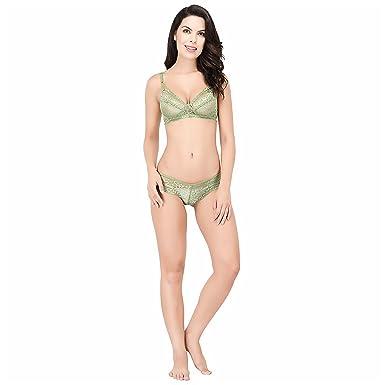6d3f748d474 Elina Women's Green Important Net Bra and Panty Set (Set of 1 ...