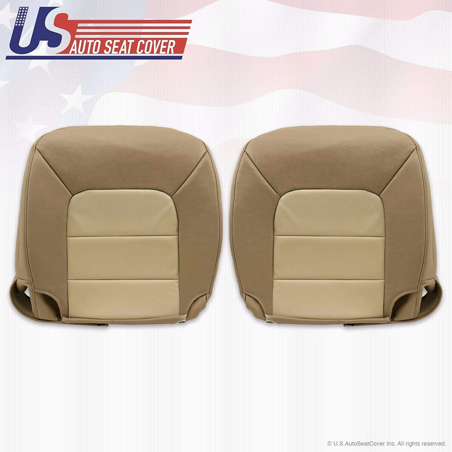 2003 2004 2005 2006 Ford Expedition Driver Bottom Leather Seat Cover 2 Tone Tan