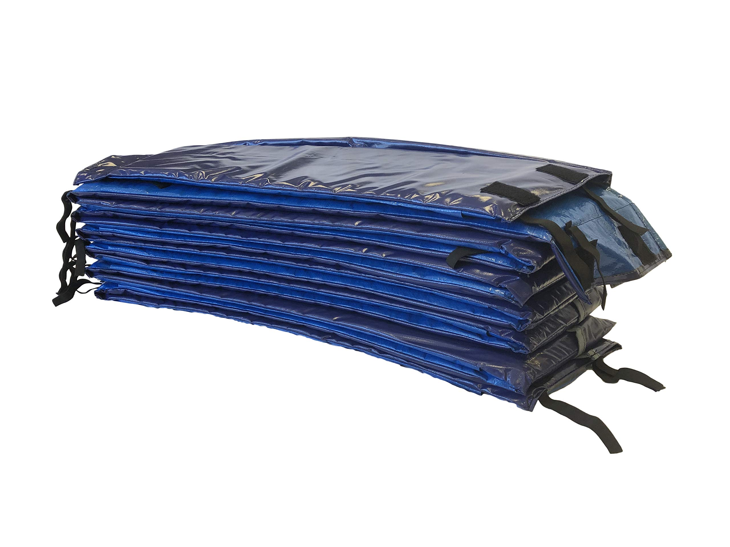 Trampoline Pro Trampoline Pads | Round 12ft & 14ft & 15ft | Square 13ft x 13ft & 14ft x 14ft | Blue and Green (Premium Royal Blue, 14 ft & 15 ft Premium) by Trampoline Pro