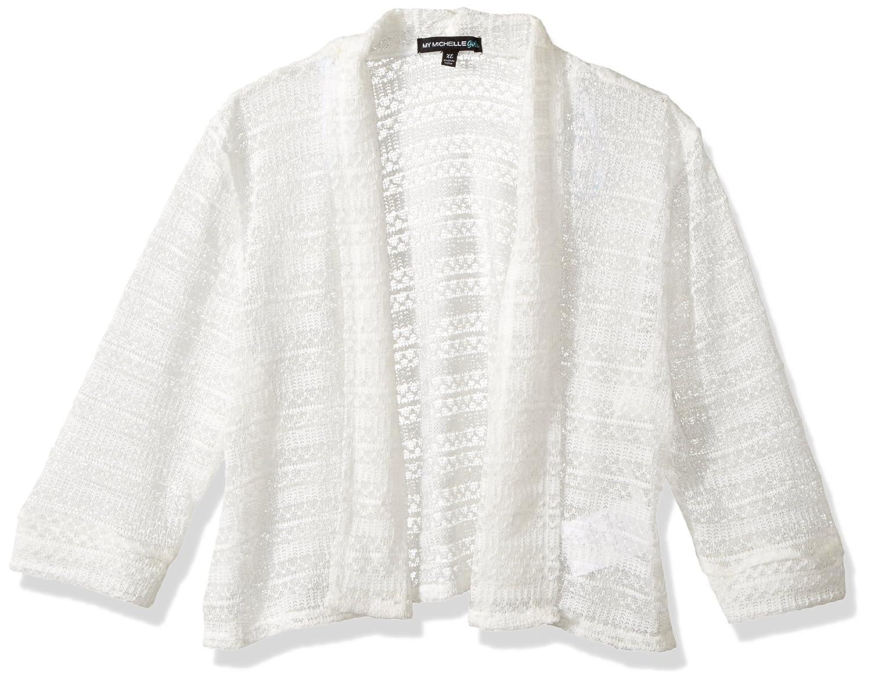 My Michelle Girls' Big Long Sleeve Crochet Sweater 8309JK8G