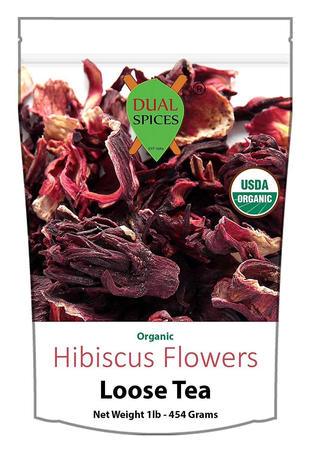 Amazon organic hibiscus flowers tea 1 pound 200 cups 7 cents amazon organic hibiscus flowers tea 1 pound 200 cups 7 centscup dual spices grocery gourmet food izmirmasajfo