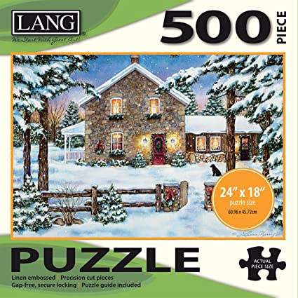 LANG - 500 Piece Jigsaw Puzzle - Nestled In The Pines