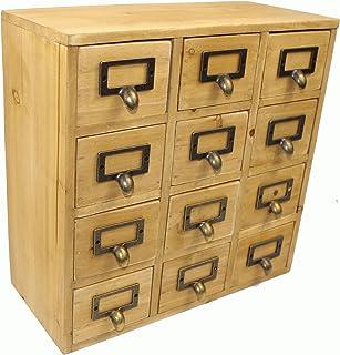 Geko 35 x 15 x 34 cm Mini Trinket Desk Organiser Trinket Storage Drawers Wooden  sc 1 st  Amazon UK & IKEA Mini Wooden Chest Of 12 Drawers Storage Box Jewellery Box ...