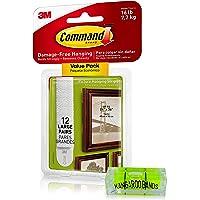 Command Picture Hanging Kit| Schadevrije hangende strips & Leveler| Perfect voor het ophangen van kleine en grote frames…