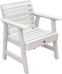 Highwood Weatherly Garden Chair, White
