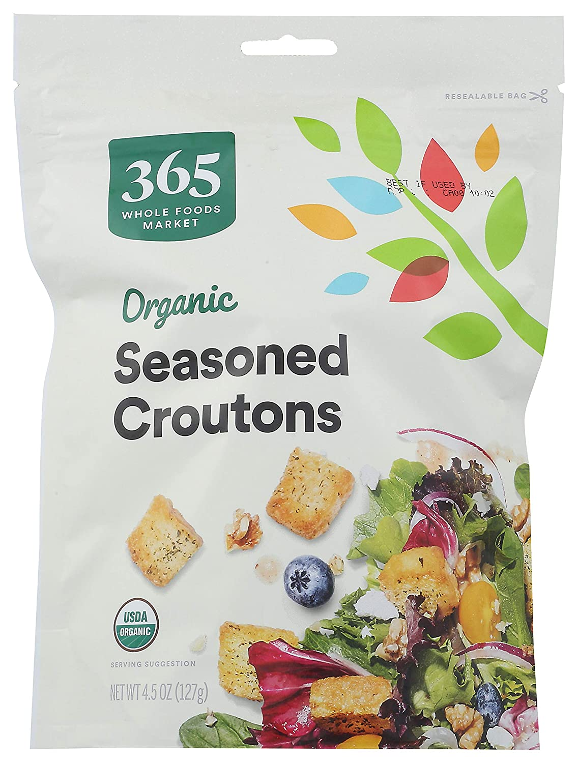 365 by WFM, Croutons Seasoned Organic, 4.5 Ounce