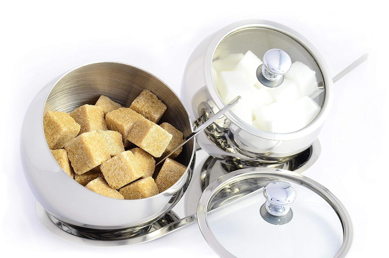 Amazon.com: OneUp Kitchen SUGAR BOWL Set con tapa, cuchara y ...