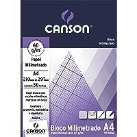 Bloco Técnico Milimetrado A4 60g/m², Canson, 66667083, 50 Folhas