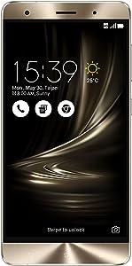 ASUS ZenFone 3 Deluxe 5.7-inch AMOLED FHD display, 6GB RAM 64GB storage Unlocked Dual SIM Cell Phone, US Warranty (ZS570KL-Glacier Silver)