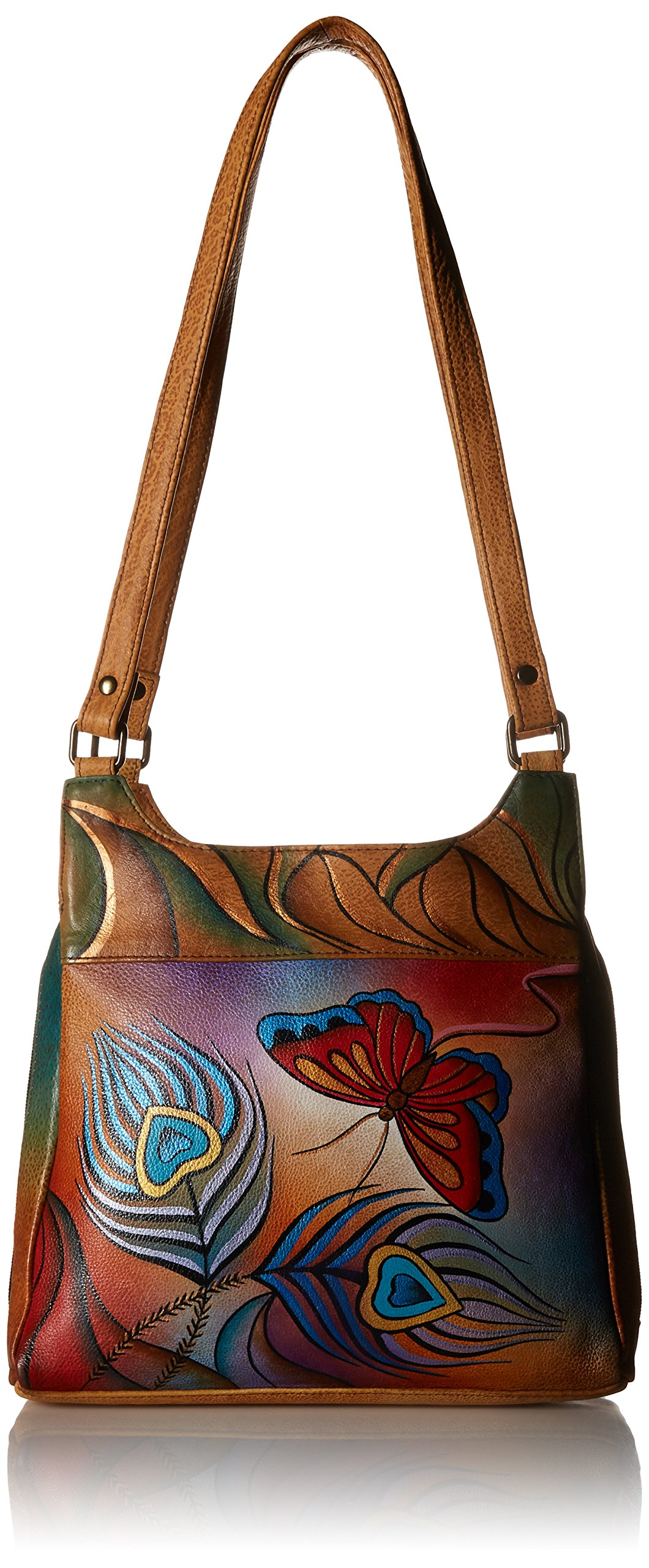 Anuschka Medium Hobo PBF, Peacock Butterfly, One Size