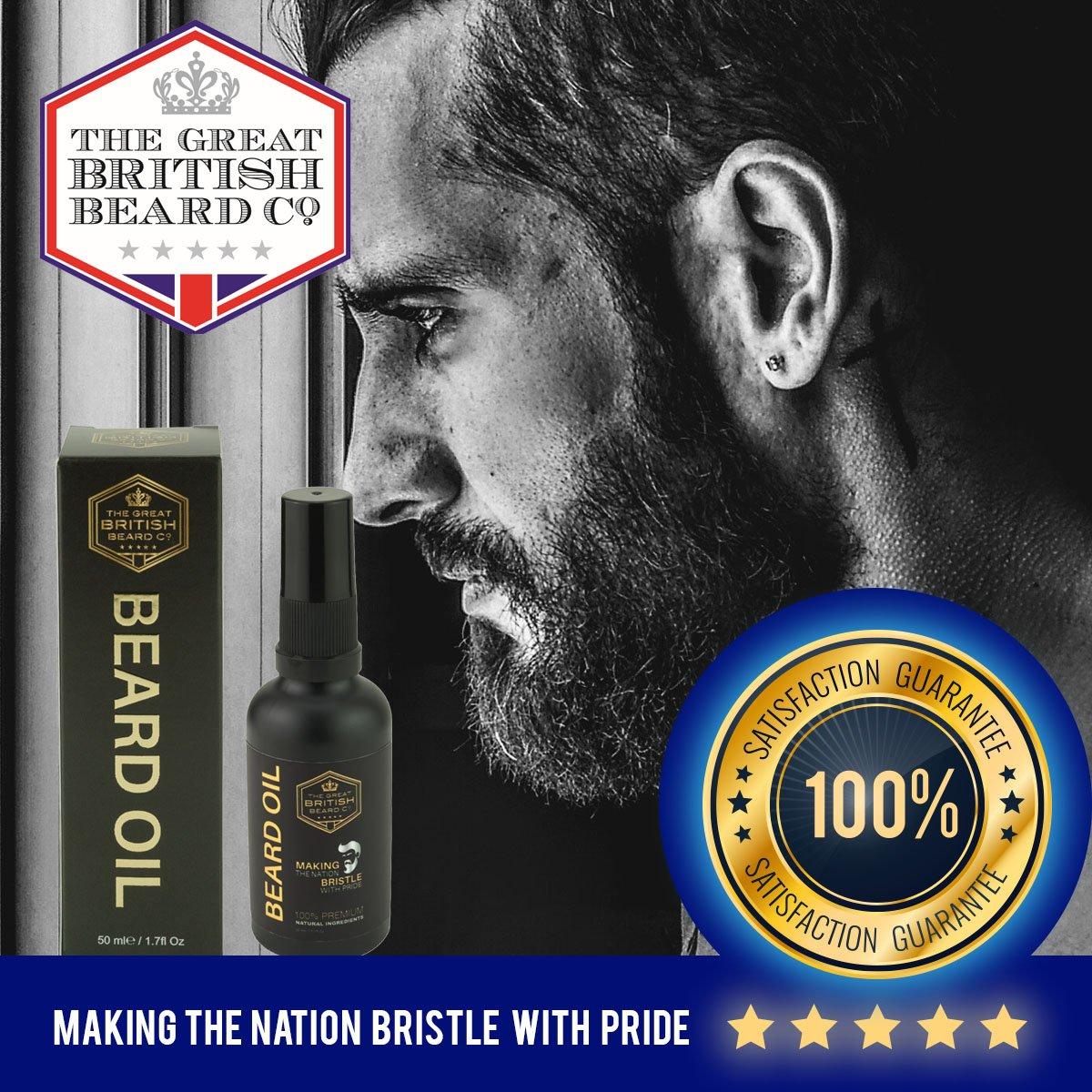 Beard Oil - Leave-in Conditioner - MADE IN UK | 100% Premium Natural  Ingredients - Jojoba Oil, Argan Oil with Vitamin E | Premium Oud Fragrance  |
