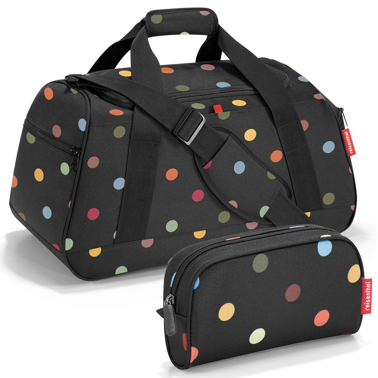 reisenthel Exklusiv-Set: activitybag Sporttasche mx7009 Plus GRATIS makeupcase Kulturtasche - dots