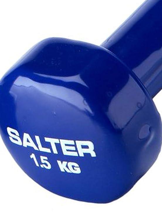 SALTER PT037 Pesas de Vinilo, Unisex, Azul: Amazon.es: Deportes y aire libre