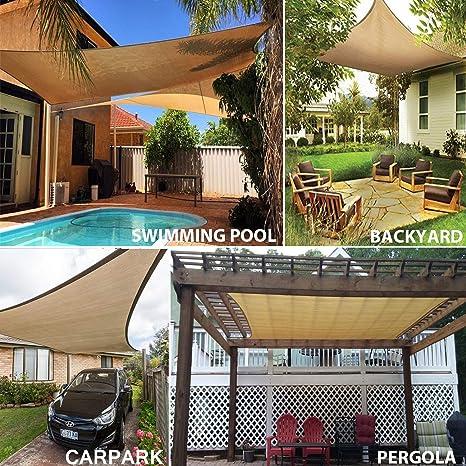 Sun Segel Sonnensegel für Garten Terrasse Camping UV Schutz PES ...