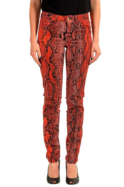 Just Cavalli Luxury Womens Animal Print Stretch Skinny Jeans US 26 IT 40