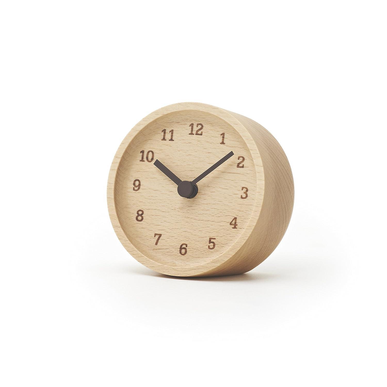 Lemnos MUKU Wooden Desktop Clock Beech LC12-05 BN
