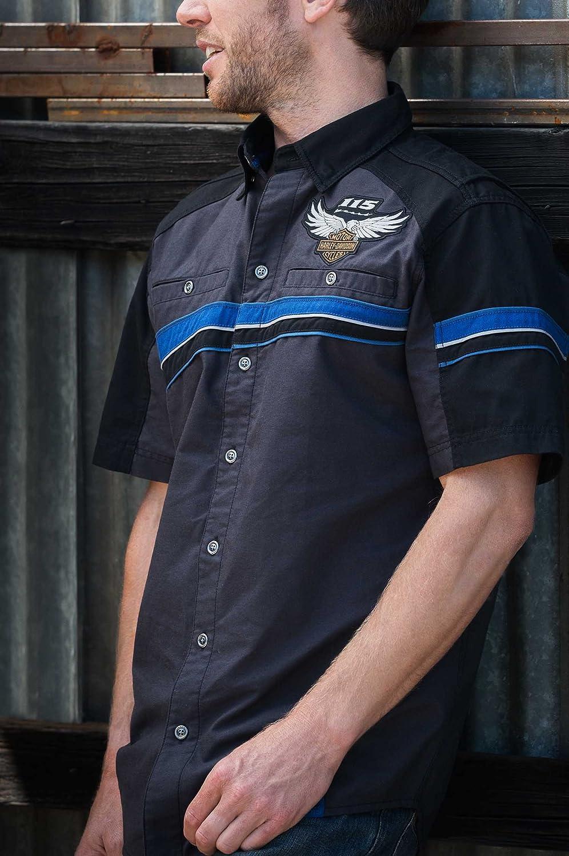 Harley-Davidson - Camisa con ventilación para Hombre (115 Aniversarios): Amazon.es: Ropa y accesorios