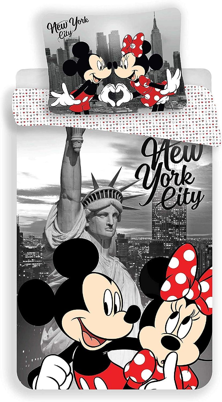 Parure Copripiumino Mickey e Minnie Love New York