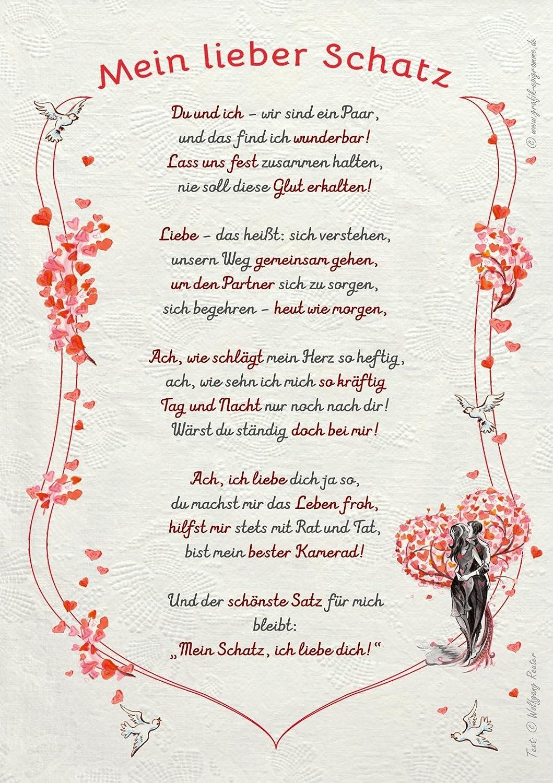 Mein Schatz Gedichte Liebe Kurz
