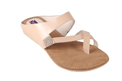 944b6aa2df4 Partywear ethnic Women Girls Flat Low Heel Chappal  Buy Online at Low Prices  in India - Amazon.in
