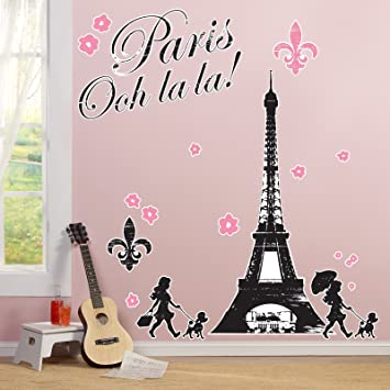 Charmant Paris Eiffel Tower Damask Party Supplies   Giant Wall Decals
