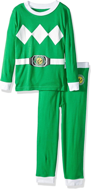 Mighty Morphin/' Power Rangers Morph Into Action 2-Piece Pajama Set Sizes 6-8