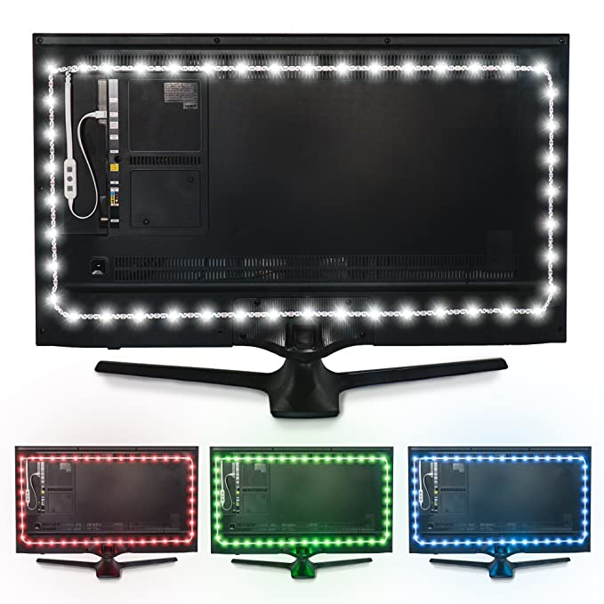 amazon com luminoodle color computer monitor backlight 15 color
