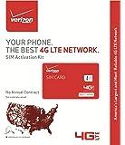 Verizon Wireless SIM Kit Prepaid Sim Cards - (Moto G & Any Verizon Branded Phone)