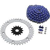 06-08 Suzuki LTR450 450 Quadracer Blue O-Ring Chain /& Black Sprocket 15//40 104L