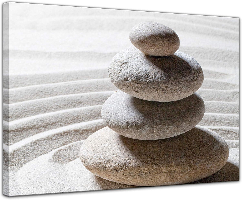 Bilderdepot24 Cuadros en Lienzo Piedras de Zen - 50 x 40 cm - Listo tensa, Directamente Desde el Fabricante