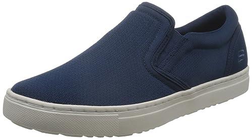 Skechers Alven-Comend, Mocasines para Hombre, Azul (Navy), 44 EU: Amazon.es: Zapatos y complementos
